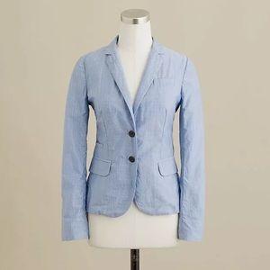 J. Crew school boy blazer jacket cotton blue